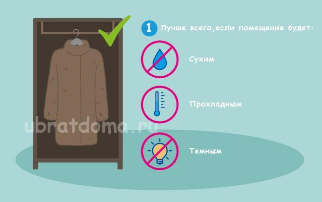 Выбор помещения для хранения