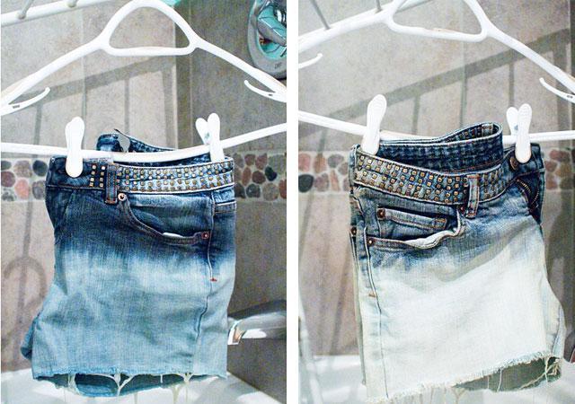 как отбелить джинсы в домашних условиях?