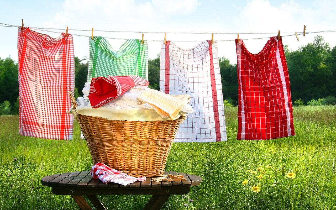 Как отбелить кухонные полотенца без кипячения?