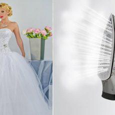 Как отпарить и погладить свадебное платье?