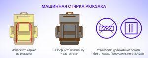 Как правильно стирать рюкзак?