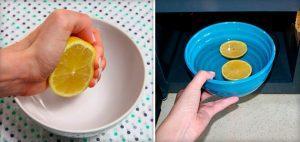 Лимон для устранения запаха в микроволновке