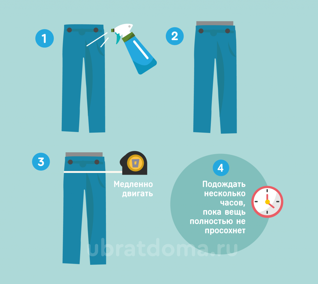 Как увеличить брюки в бедрах?