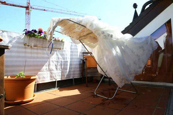 Как правильно высушить свадебное платье?