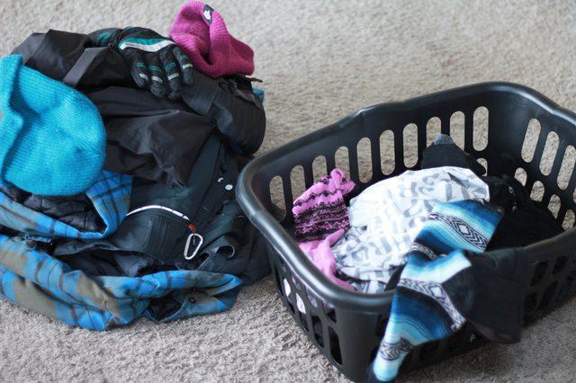Стирка горнолыжной одежды в стиральной машине автомат