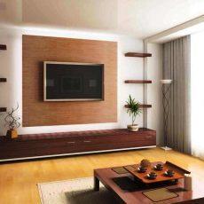 Как оформить стену в гостиной с телевизором?
