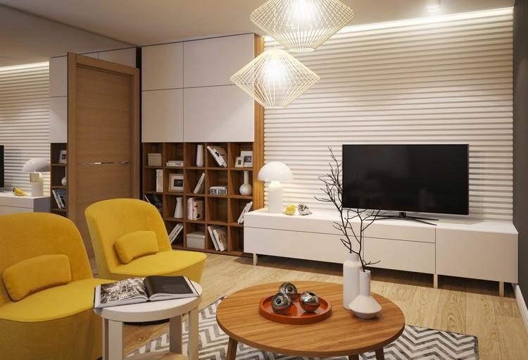 Панели для стен гостиной комнаты