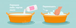 Тертое мыло или порошок