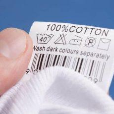 Треугольник на бирке одежды