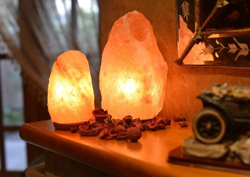 Соляная лампа для очистки воздуха