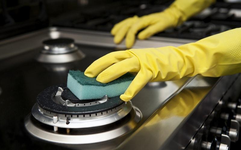 Как помыть конфорки?