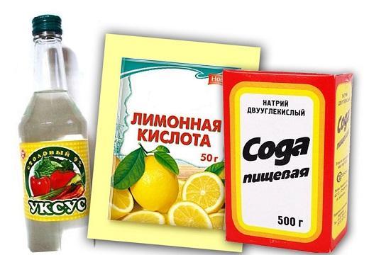 Сода, уксус, лимонная кислота для смягчения воды