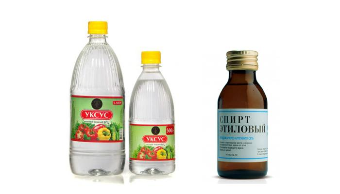 Спирт, уксус и лимонная кислота