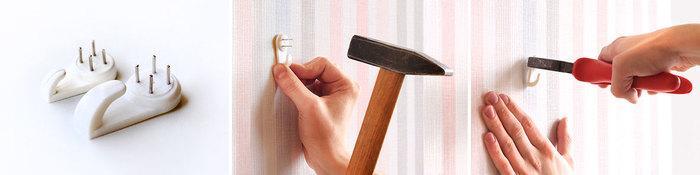 Как повесить рамки на стены?