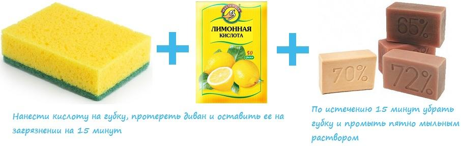 Лимонная кислота и мыльный раствор