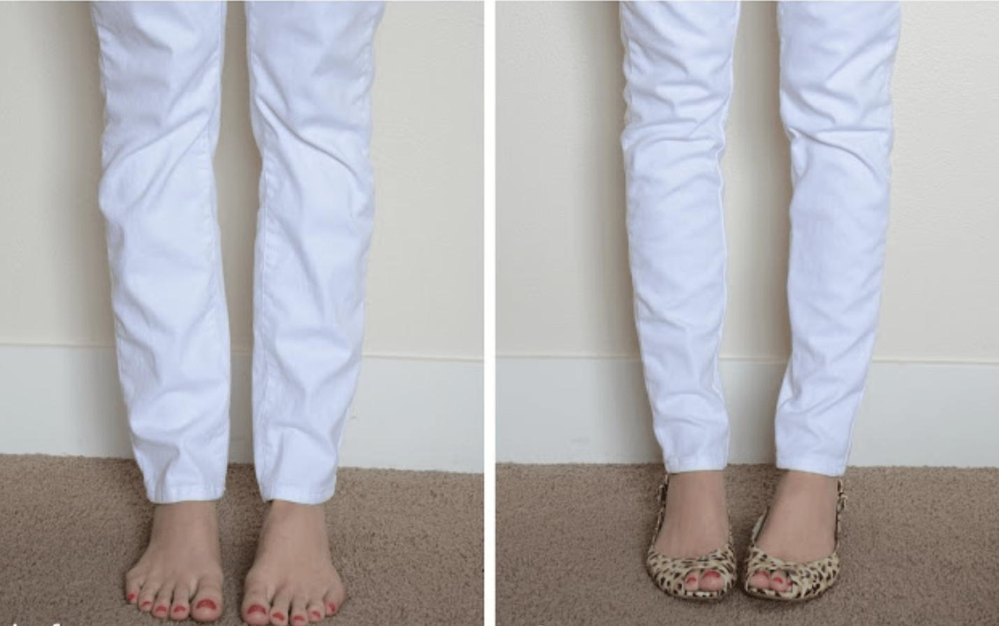 Ушить джинсы - до и после