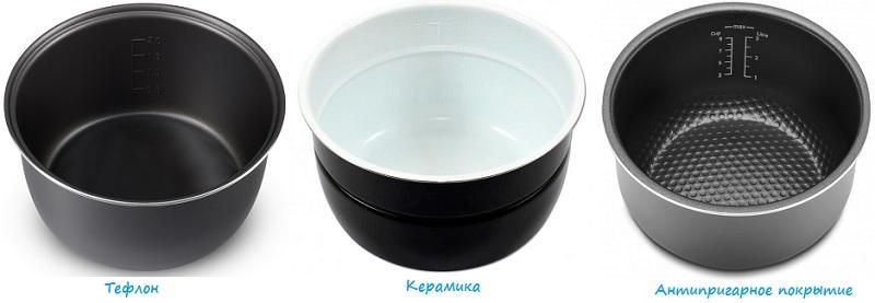 Материалы покрытия чаши