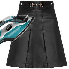 Как погладить кожаную юбку в домашних условиях?