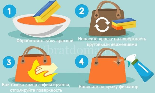 Как покрасить сумку из кожи?