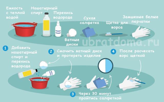 Как почистить белые перчатки из замши?